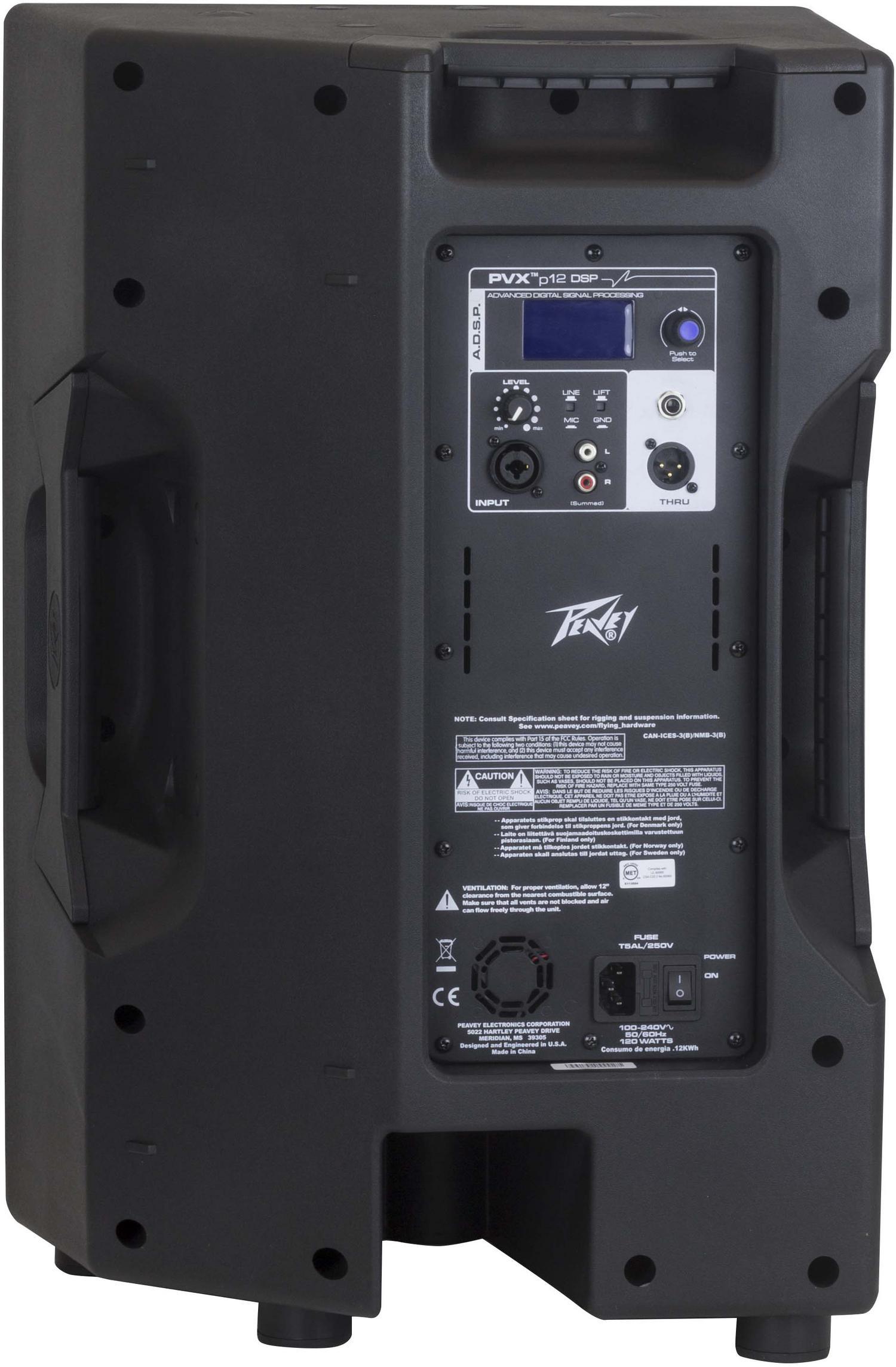 Peavey PVXp 12 Active Enclosure Speaker back panel view