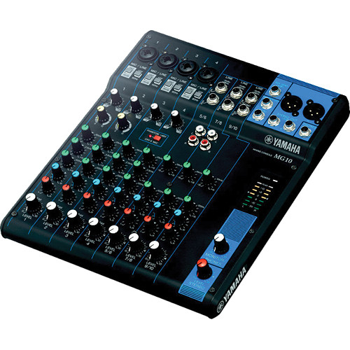 small audio mixer Yamaha MG10 isometric view for hire
