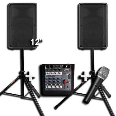 2 Speakers with a Subwoofer for Hire 4