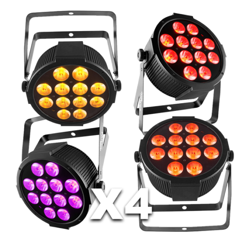 4 Piece LED Par Can Up-Lighting Kit for Hire 1