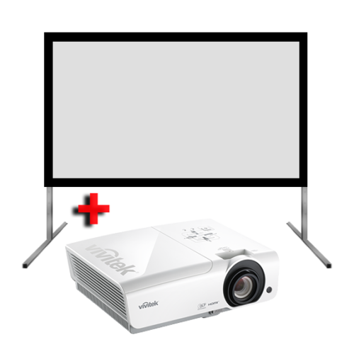 High Brightness Projector and Screen Hire 1